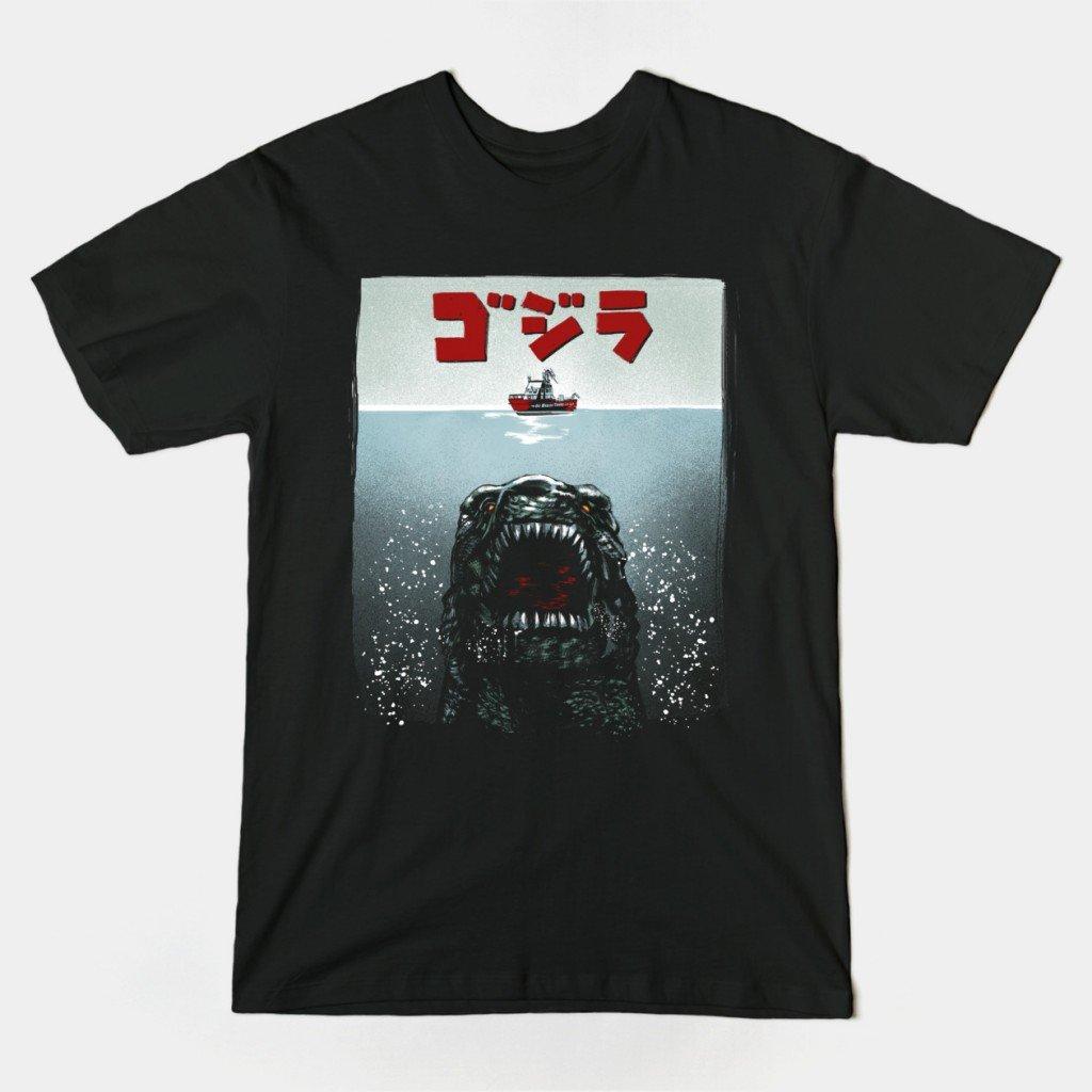 teepublic-godzillaJaws-shirt